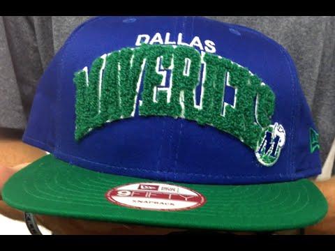 Mavericks 'CHENILLE-ARCH SNAPBACK' Royal-Green Hat by New Era