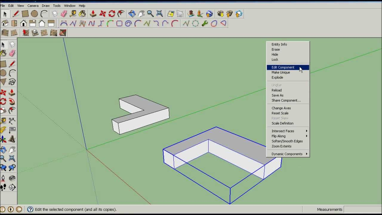 sketchup techniques components mirror youtube