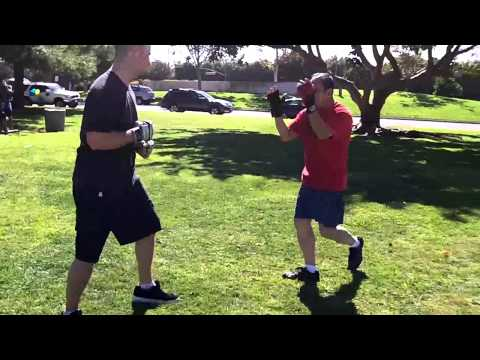Modified Wing Chun vs Muay Thai Boar Bando at Open Martial Arts Meetup Sparring Image 1
