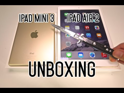 New iPad Mini 3 & iPad Air 2 Unboxing - It's So Thin!