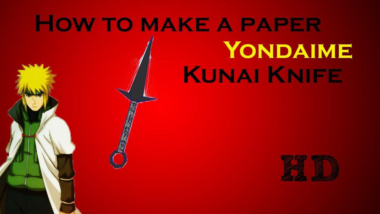 Paper Shuriken Instructions A Paper Yondaime Kunai