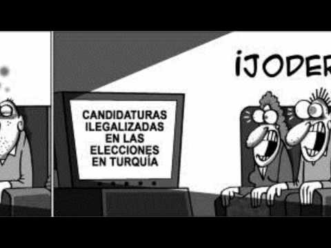 Ilegalized political party in elections in Spain and in Turkey.