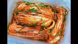 Kim chi ngon tuyệt vời, làm đơn giản, nguyên liệu dễ tìm , kimchi recipe    Natha Food