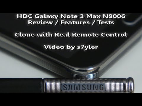 REVIEW! of the HDC GALAXY Note 3 MAX N9006 (Black) MTK6589 incl. Real IR Remote / BEST NOTE 3 CLONE!