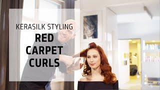 How to blow dry red carpet curls - silky with bounce | Kerasilk Styling | Goldwell Education Plus