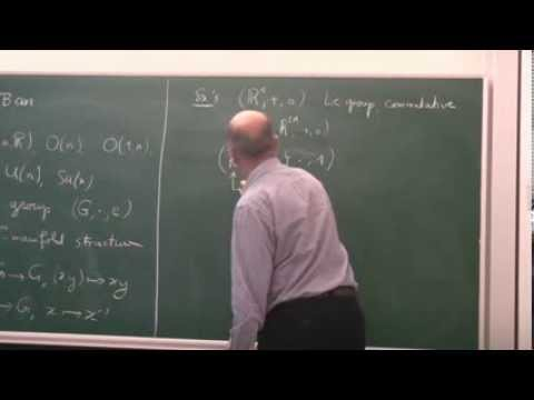 Lec 1   Lie Groups (Part 1)