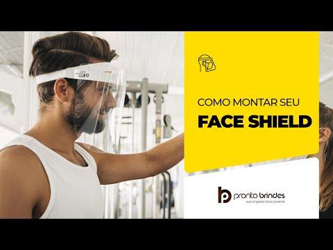 Como Montar Protetor Facial - Face Shield - Pronto Brindes