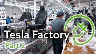 Tesla Fremont Factory Tour, Part 2 — The Seat Factory