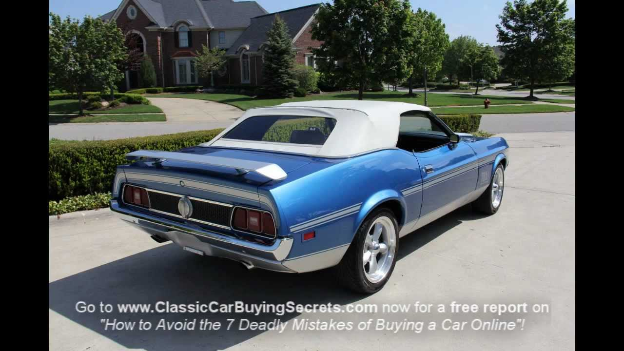 1972 Ford Mustang Mach 1 Convertible Classic Muscle Car
