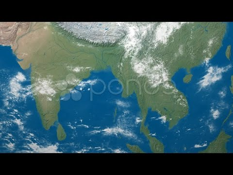 3D Earth Globe Map, India, Se Asia. Stock Footage