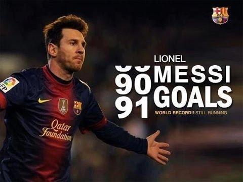 Lionel Messi - Bir Yılda 91 Gol (2012) - Guinness Dünya Rekoru • HD