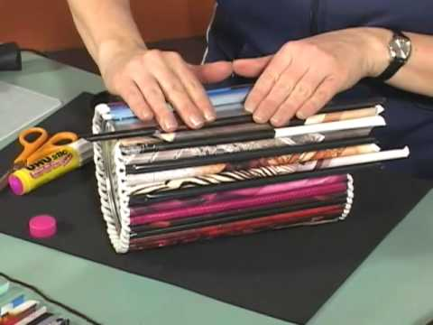 Magazine Roll Up Crafts Youtube