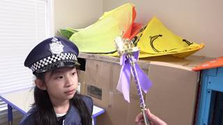 Pretend Play POLICE with Ryan's Toy Review inspired- I MAILED MYSELF to Ryan ToysReview and it WORK8