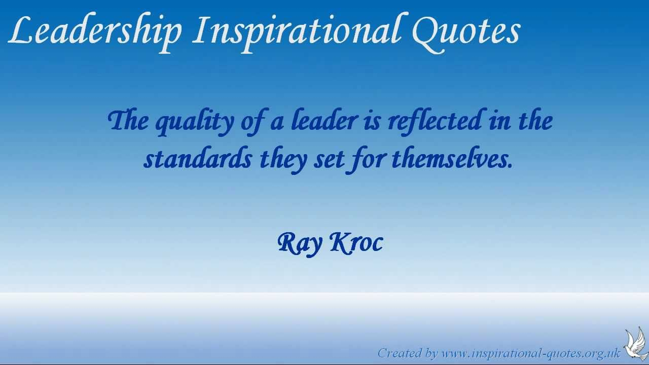 leadership inspirational quotes youtube