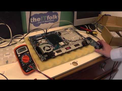 Testing DC Jack on a Laptop Motherboard with Multimeter