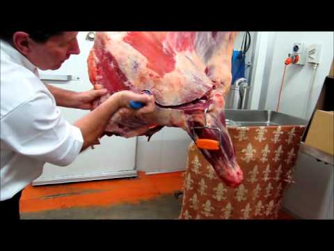 Part 1 - How to bone a Forequarter of beef demonstration by Master Butcher Michael Cross