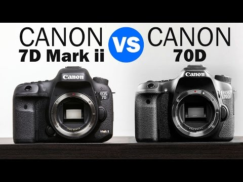 Canon 7D Mark ii vs Canon 70D Full Comparison