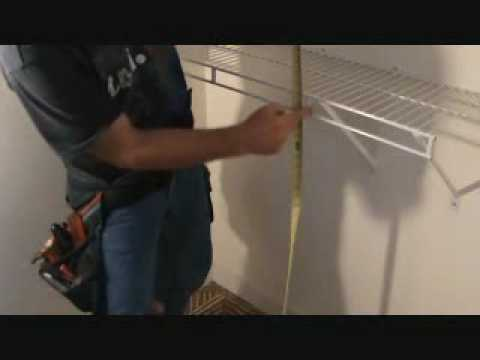 Installing Prefinished Wire Closet Shelves Measure Twice