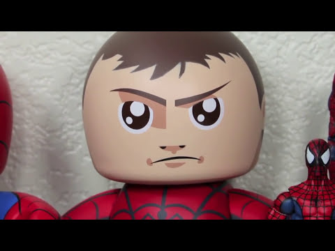 Marvel Mighty Muggs Spider-man with Removable Mask SDCC 2011 Exclusive Toy Review