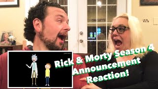 Rick and Morty Season 4 Release Date Announcement Reaction Video