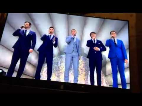 Collabro performing at VE Day - We must all stick together