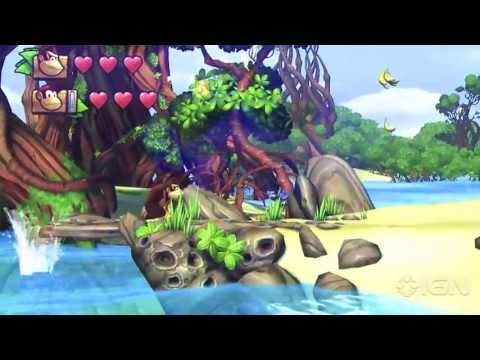 Donkey Kong Country: Tropical Freeze - Offscreen Co-op Gameplay - E3 2013