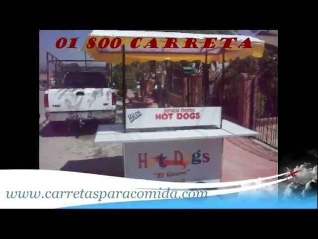 CARRITO DE HOT DOGS Y HAMBURGUESAS CLASICA EN TECATE.qt