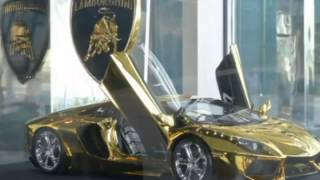 Gold Lamborghini World s most expensive model car on display in