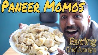 Paneer Momos Eating Challenge I Spicy Momos Competition