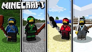 Become the LEGO NINJAGO WARRIORS in Minecraft!