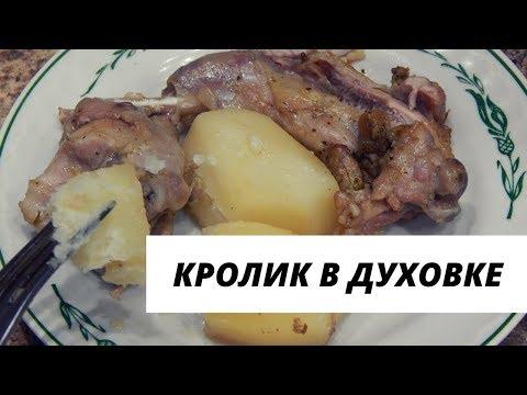 Запеченный кролик в духовке с картошкой.  Вкусный рецепт кролика