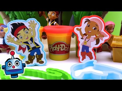 Play-Doh Jake y los Piratas Tesoros Piratas Treasure Creations - Juguetes de Play-Doh