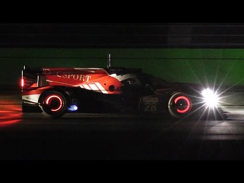 ELMS 2017 Tests at Monza Circuit - Evening/Night Session with Flames & Glowing Brakes