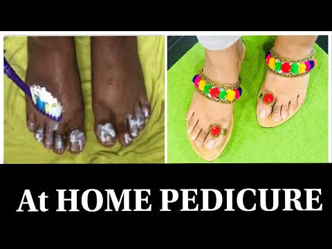 #Diwalog Day 6 - At Home Pedicure in हिनदी | Diwali 2018