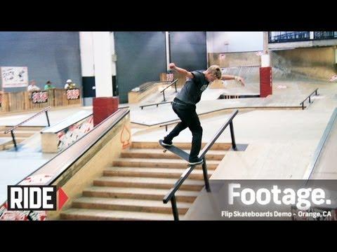 Oscar Meza, Curren Caples, Geoff Rowley, Arto Saari & More - Flip Skateboards Demo - Vans Skatepark