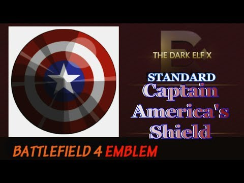 Battlefield 4 Emblem - Captain America's Shield ( STANDARD )