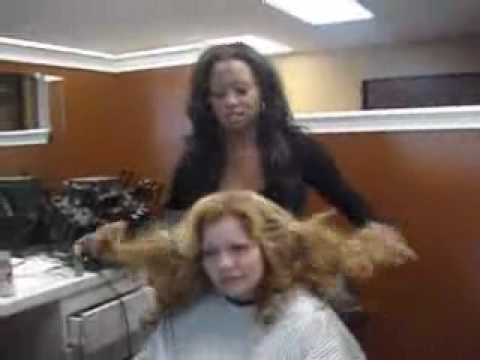 Pole Weaving Extensions Demonstration- Hair Extensions to Remember by California Hair Extensions