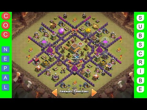 Clash of clans town hall level 8 best war trophy base v1 0