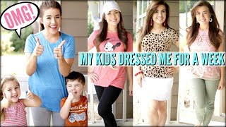 I LET MY KIDS DRESS ME FOR A WEEK | Love Meg
