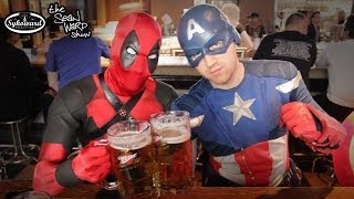 DEADPOOL and CAPTAIN AMERICA go to the Movies