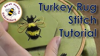 Hand Embroidery - Turkey Rug Stitch tutorial