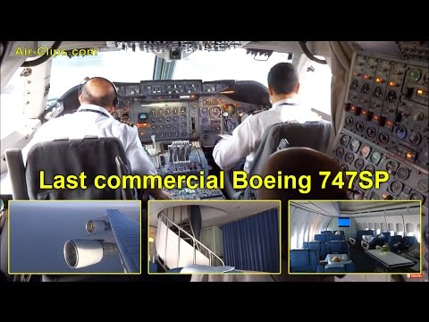 Boeing 747SP Iran Air FULL FLIGHT: Takeoff, Landing, Cockpit by [AirClips FullFlight series]
