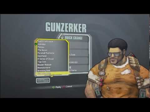 Borderlands 2 All Skins and Heads for the Gunzerker(Salvador)