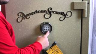 Changing the combination on American Security Safe