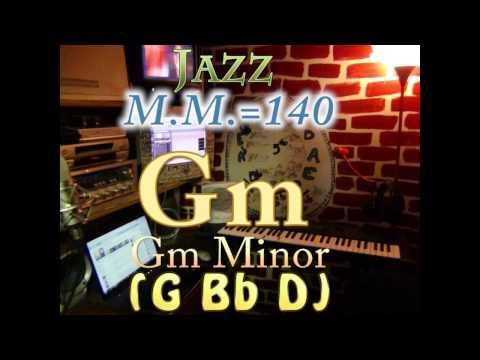 Gm Minor (G Bb D) - Jazz - M.M.=140 - One Chord Backing Track