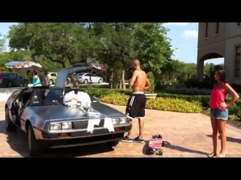 Tony Parker's gets his delorean - YouTube