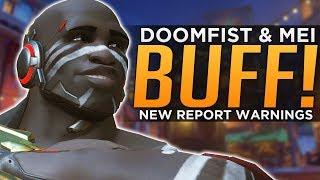 Overwatch: Doomfist & Mei BUFFED! - NEW Report System Warnings