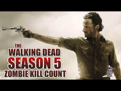 The Walking Dead Season 5 - Walker Kill Count!