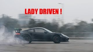 Porsche 991.2 GT3RS at the Buddh International Circuit | Doing crazy hot laps & donuts | India