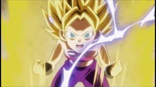 Goku teaches Caulifla to become Super Saiyan 2 | Goku vs Caulifla | Dragon ball Super Episode 100
